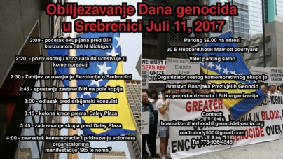 """Srebrenica Genocide Commemoration Day"" Chicago"