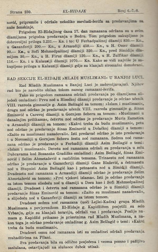 Ramazan u Banjoj Luci prije 70 godina