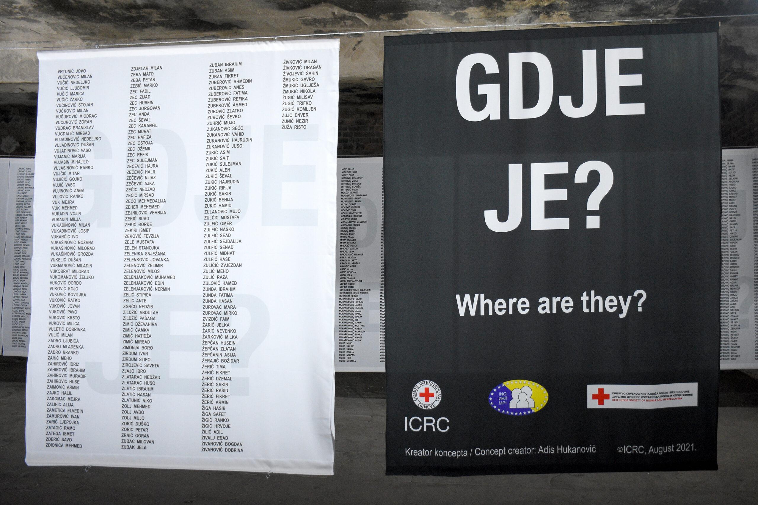"""Otvorena izložba """"Gdje je?"""" povodom Međunarodnog dana nestalih"""